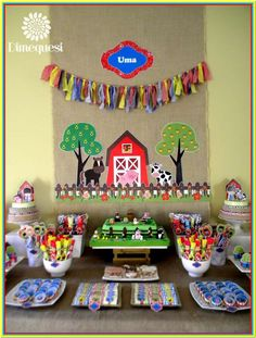 Fun farm birthday party! See more party ideas at CatchMyParty.com!