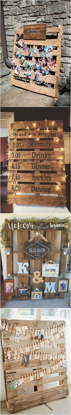 An amazing wood pallet wedding ideas is surfaced hangings or sketches. Affordable wood pallet wedding ideas improve the beauty of surfaces. Rose Wedding, Diy Wedding, Rustic Wedding, Wedding Photos, Horseshoe Wedding, Trendy Wedding, Wedding Reception Games, Wedding Shower Games, Reception Decorations