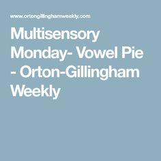 Multisensory Monday- Vowel Pie - Orton-Gillingham Weekly Short Vowel Games, Short Vowels, Short Vowel Sounds, Gillingham, Teaching Strategies, Pie, Decoding, Dyslexia, Homeschool