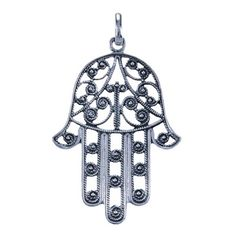 The hand of Fatima, other word for it is 'Hamsa'. The meaning behind this symbol is protection. In the middle-eastern and north africa this is a well known symbol. In the western of europe it is getting to more well known.