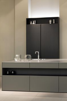 SieMatic PURE: umbra SimiLack matt with black oak combination
