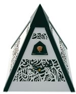 Model Modern Design, Quartz Shelf Cuckoo Clock, Musical, White Filigree This is a beautiful modern crafted cuckoo clock designed by the award-winning Conny Haas. Modern Cuckoo Clocks, Modern Crafts, Filigree Design, Antique Clocks, Black Forest, Bold Colors, Decorating Tips, Modern Design, Shelf