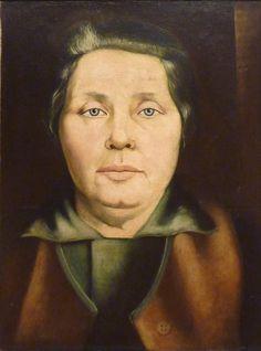 Bildnis der Mutter (1928) by Ernst Thoms (German 1896-1983)
