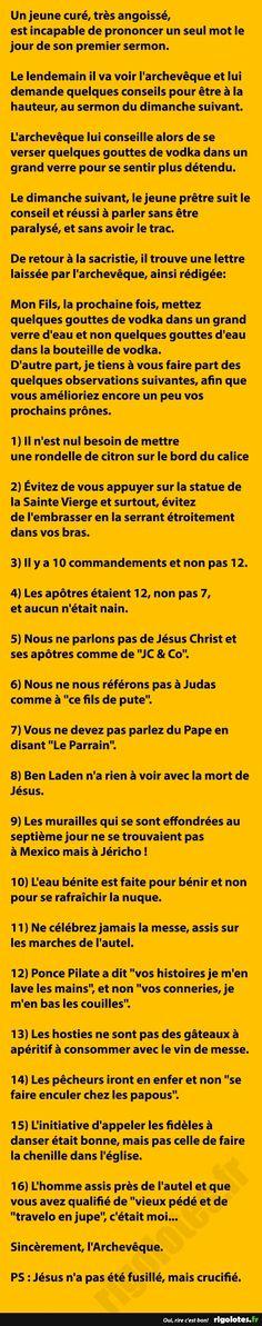Un jeune curé, très angoissé,... - RIGOLOTES.fr