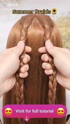 Braided Hairstyles Tutorials, Easy Hairstyles For Long Hair, Braids For Long Hair, Summer Hairstyles, Cool Hairstyles, Kawaii Hairstyles, Twist Hairstyles, Latest Hairstyles, Black Women Hairstyles