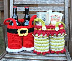 Elf Pants Gift Basket pattern by Sonya Blackstone/Blackstone Designs (Santa Pants Gift Basket pattern available too).