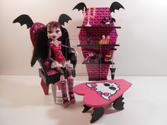 Monster High Furniture - Draculaura Furniture by monsterminicustoms