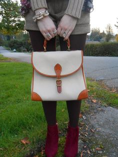 Love vintage Dooney and Bourke! also love booties and shorts for fall