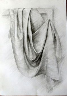 Discover more about drawing tutorial Pencil Drawing Tutorials, Pencil Art Drawings, Art Drawings Sketches, Abstract Drawings, Drawing Ideas, Drapery Drawing, Fabric Drawing, Shading Drawing, Pencil Shading
