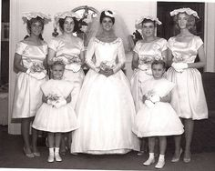 1963  - We went to a lot of weddings as kids.  Nowadays it's no kids allowed.