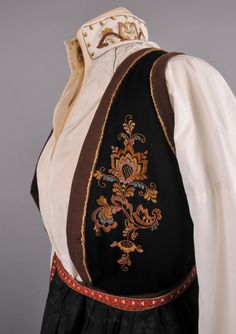 vest telemark DigitaltMuseum - Bunad Folk Costume, Costumes, Going Out Of Business, I Fall In Love, Norway, Scandinavian, Folk Clothing, Vest, Edwardian Dress