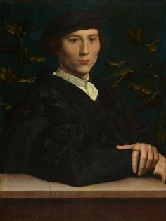 'The Northern Renaissance' Hans Holbeib (the Younger) c.1497-1543: This portrait of Derich Born (1510?->1549) was originalaly aquired bu Charles I and possibly given by him to the Earl of Arundel - it is now in The Royal Collection.