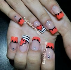 Crazy Nails, Nail Arts, Nails Inspiration, Nail Designs, Hair Beauty, Awesome, Nail Art, Nail Bling, Polish Nails