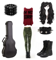 """Army Princess"" by emo-band-freak ❤ liked on Polyvore featuring yeswalker and Bakers"