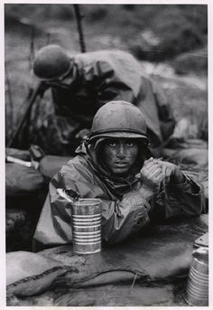 """U.S. Marine inside the cone of fire at Con Thien."" September/October 1967. David Douglas Duncan. HRC"