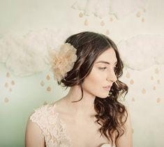 BUY or DIY? Bridal Fabric Hair Flowers