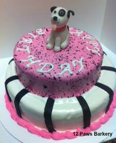 Double Decker Dog Birthday Cake Decorated With Fidos Frosting Baked By 12 Paws Barkery Based In Baton Rouge LA