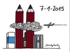 Philippe Geluck in tribute to #CharlieHebdo because #WeAreCharlie #NousSommesCharlie & #JeSuisCharlie #IamCharlie