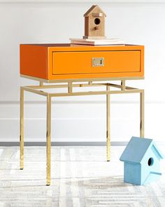 Wesley Side Table at Neiman Marcus. #sidetabledesign colorful design #colorfulsidetables modern living room #livingroomdesign decorating ideas. Find more inspirations at www.coffeeandsidetables.com