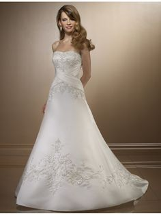 a-line princess wedding dress