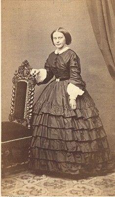 France Woman Fashion Second Empire CDV Photo 1865 | eBay