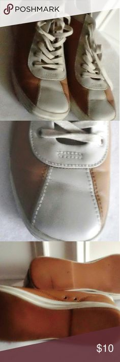 Circa 1985 Washable Leather Keds Tan White Ankle Oh I have loved these.  I bought these in t th e early 80s. Ver good used condition.  Mad comfy.  Washable Leather Keds. Keds Shoes Athletic Shoes