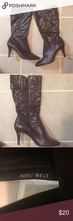 Beautiful Nine West brown boots Size 9M Lightly worn size 9M brown boots-Nine West. Great quality and perfect for a beautiful fall outfit. Nine West Shoes Heeled Boots