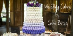 This 5 Tier Ombre Wedding Cake was the perfect centerpiece for a Rustic Country wedding  #cakeballs #cakepops