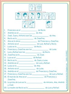 Me encanta escribir en español: El árbol genealógico de una familia.