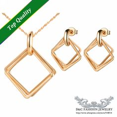 Find More Jewelry Sets Information about Three Square Link Pendants 2015 Fashion Jewelry Set for Women Rose Gold Jewellery Sets Bridal Accessories Necklaces Ulove T267,High Quality jewelry snap sets,China jewelry sets on sale Suppliers, Cheap jewelry sets for girls from D&C Fashion Jewelry Buy to Get a Free Gift on Aliexpress.com