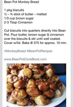 Monkey Bread (Using Bean Pot from Celebrating Home)
