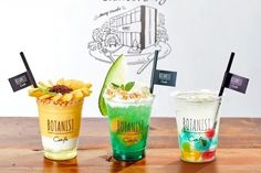 Cafe Menu, Cafe Food, Drink Menu, Food And Drink, Soda Floats, Cafe Cup, Glass Packaging, Breakfast Smoothie Recipes, Fancy Drinks