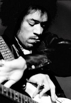 Jimi Hendrix photographed by Baron Wolman at the FIllmore West in San Francisco, February 1968.