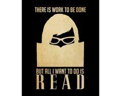 Reading Art 8x10 Book Art Print Poster, Library Decor, I Love Books, Geek Art, Nerd Art, Teacher Art, Book Club. All I Want To Do Is Read on Etsy, $19.14 AUD