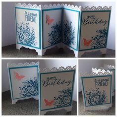 Stamp With Vickie: Screen Divider Card Tutorial