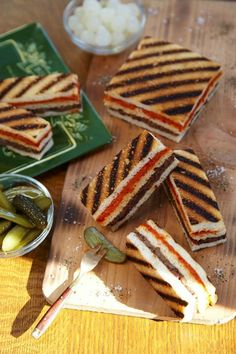 Make Grilled Layered Olive Tapenade Tea Sandwiches with this easy recipe.