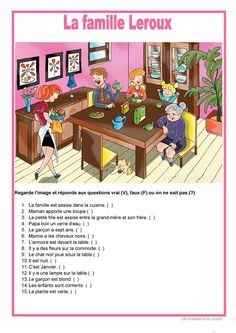 Learn French Videos Free Fun French Videos For Kids Foreign Language Info: 4889893619 French Flashcards, French Worksheets, Study French, Core French, French Teaching Resources, Teaching French, French Lessons, English Lessons, English Fun