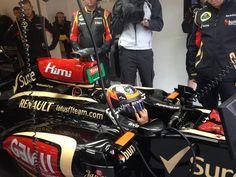 Kimi Räikkönen getting ready for FP2 - 2013 British GP