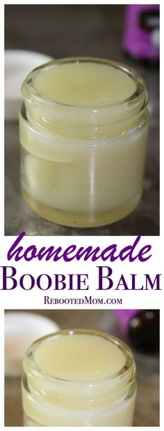Whip up this homemade boobie butter for tired, cracked nipples!
