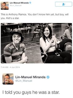 """Someday he will BLOW US ALL AWAY"" -- Lin is just such a proud papa bear"