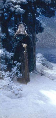 December 17th: New Year's Night by Julius Johann Ferdinand Kronberg