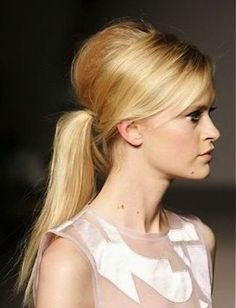 Take your ponytail game to the next level. Side part ponytail.