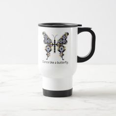 Singing Swallowtail Quilt Pattern Travel Mug - home gifts ideas decor special unique custom individual customized individualized