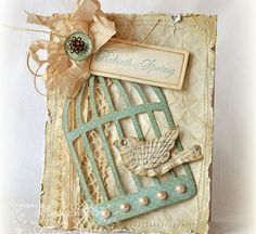 22 Ideas For Shabby Chic Cards Stampin Up Paper Atc Cards, Bird Cards, Card Tags, Stampin Up Cards, Shabby Chic Karten, Shabby Chic Cards, Photo Halloween, Artist Trading Cards, Pretty Cards