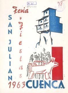 San Julián 1963 Programa de fiestas patrocinado por el comercio conquense Portada de Alejandro M. Vidal