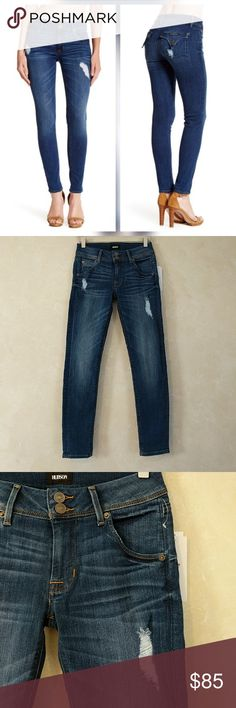"""Hudson Collin Jeans Stretch Skinny Ankle Dharma New with tags. Perfect condition. No trades. Approximate measurements Waist flat across 13.75"""" Rise 8"""" Inseam 27"""" Hudson Jeans Jeans"""