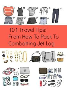 Repinned: 101 travel tips. - especially like the jet lag calculator from British Airways