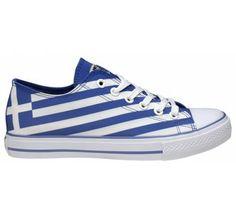 Art Shoes Greek Flag Casual shoe with printed canvas side Learn Greek, Go Greek, Zorba The Greek, Greek Flag, Shoe Art, Art Shoes, Greek Music, Fade Styles, Greek Islands