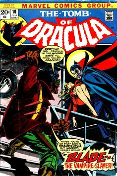 Tomb Of Dracula #10, January 1973, cover by Gil Kane and Tom Palmer