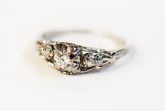 How sweet.   #diamond #vintage #ring